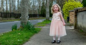 Fianna McHugh (4), who has Prader-willi syndrome, at her home in Clondalkin. Photograph: Brenda Fitzsimons