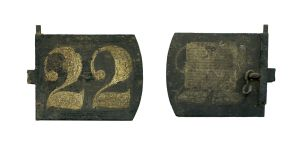 Newgate Prison lock plate from the cell of Sir Charles Gavan Duffy, founder of The Nation, estimated €600