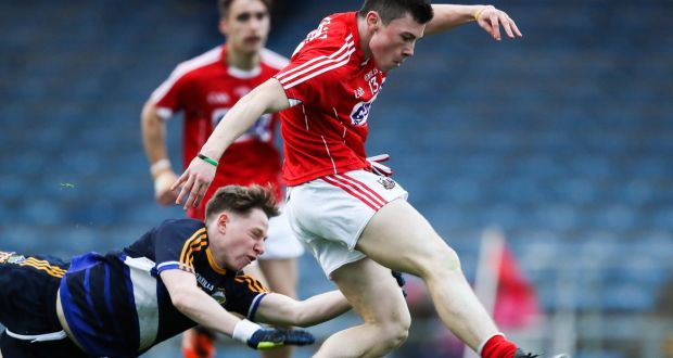 Cork S Mark Cronin Scores A Goal Despite The Attempted Challenge Of Tipperary Jack Dolan During