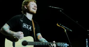 Ed Sheeran's no hoax, in a world of fake news surely he's a truth telling troubadour. Photograph:  Aidan Crawley/The Irish Times