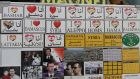 Fridge magnets are displayed at a shop selling items for tourists in Damascus in April 2011. Photograph: Louai Beshara/ AFP/ Getty Images