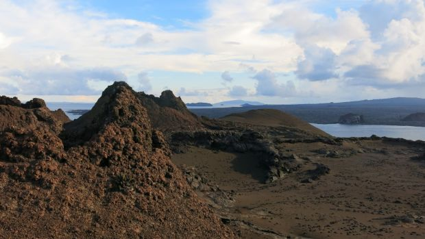 I hiked a volcano and walked on jet-black lava fields. Photograph: Deirdre Mullins