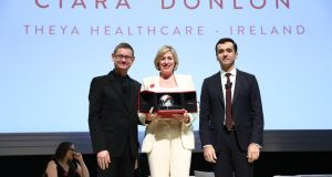 Cyrille Vigneron, president and chief executive of Cartier; Ciara Donlon, chief executive of Theya Healthcare; and Ilian Mihov, dean of Insead.