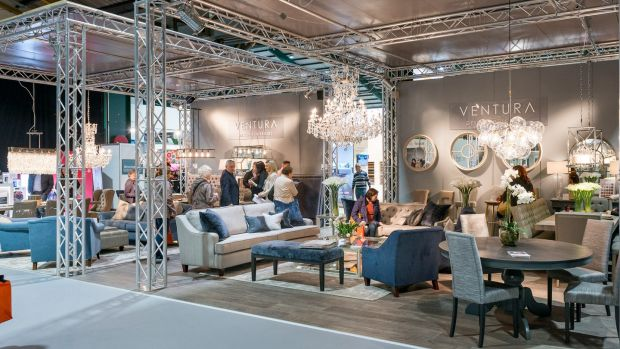 An interior design stand at the Permanent TSB Ideal Home Show.