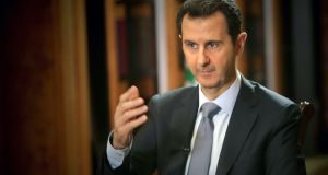 Syrian president Bashar al-Assad made the comments in an interview with AFP. Photograph: Joseph Eid/AFP/Getty Images