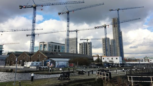 Crane-counting on the Dublin skyline is back, house prices are rising up by up to 9% nationally and 10.2% in Dublin and couples are camping overnight in cars to be first in line to buy new houses