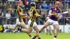Wexford's Lee Chin in action during the  Allianz Hurling League quarter-final against Kilkenny at  Nowlan Park. Photograph:  Ken Sutton/Inpho