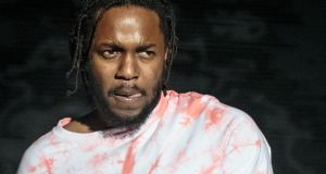 Kendrick Lamar was a star of seismic levels when he performed in front of a full house in Dublin's 3Arena. File photograph: Suzanne Cordeiro/AFP/Getty Images
