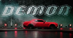 The Dodge Challenger SRT Demon, unveiled at the New York auto show. Photograph: Julie Jacobson