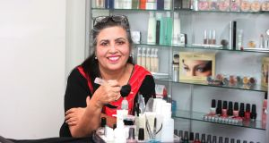 Neelu White has been in the beauty business for 33 years and her customer base is loyal. Photograph: Martin Maher