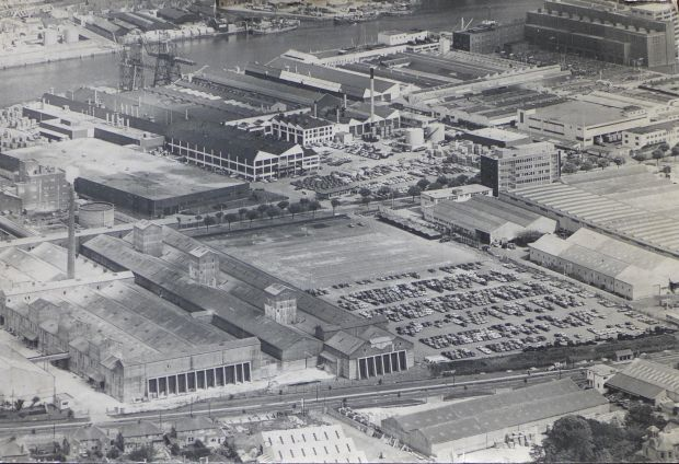 Ford's facility at the Marina in Cork in the 1960s