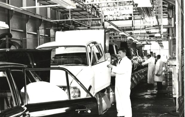 Ford: the quality control team inspecting cars as they come of the line in Cork
