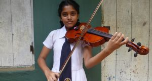 Rashmi Navoda, a Music Project student. Photograph: Joseph O'Connor
