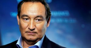 "United Airlines CEO Oscar Munoz: protested to staff that the ""disruptive and belligerent"" passenger had been ""politely asked"" to leave the flight. Photograph: Lucas Jackson/File Photo"