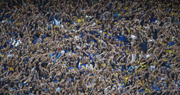 bc86662c89c A seething mass of passion  The Boca Juniors fans during a Superclásico  match against River