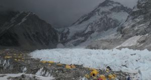 Everest Base Camp: it spurred into action almost a month ago  and soon there will be nearly 1,000 people living here