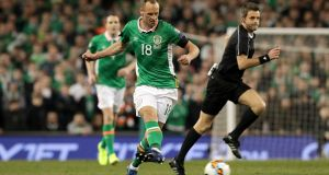 Republic of Ireland and Hull midfielder David Meyler has been ruled out for the rest of the season with a medial knee ligament injury. Photograph: Morgan Treacy/Inpho