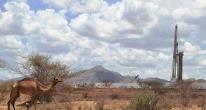 An oil drilling block managed by Tullow Oil in Kenya where it says  it continues to make good progress. Photograph: AFP