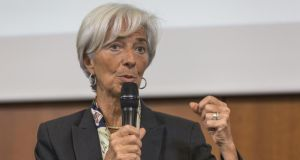 "IMF managing director Christine Lagarde: ""After six years of disappointing growth, the world economy is gaining momentum."" Photograph: Rolf Schulten/Bloomberg"