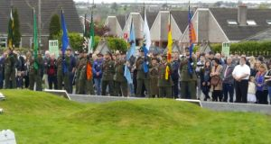 The Sinn Féin commemoration at the republican plot at St Finbarr's Cemetery in Cork. Earlier in the day, the Cork branch of the Workers Party also held a commemoration at the graveyard