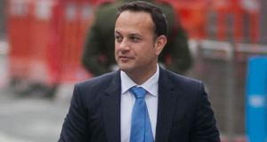 Minister for Social Protection Leo Varadkar has given his views on the refunding of those who paid their Irish Water bills. Photograph: Gareth Chaney/Collins
