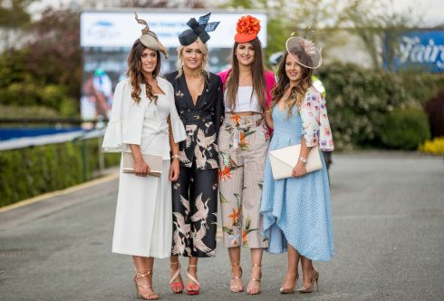 Chelsea McDonald, Hilly McDonald, Grace Flynn and Jemma Rooney all from Rostrevor, Newry. Photograph: Inpho