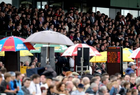 A busy grandstand at Fairyhouse. Photograph: Inpho