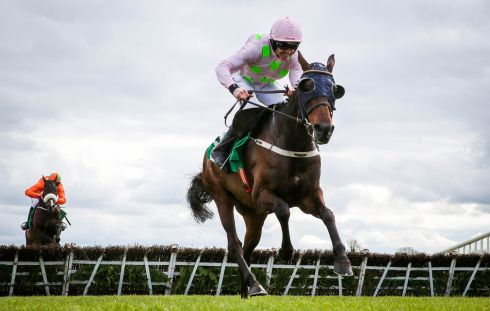 The Keelings Irish Strawberry Hurdle (Grade 2) - Ruby Walsh onboard Renneti on his way to winning. Photograph: Inpho