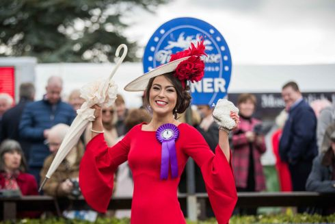 Laura Elliott from Belfast, winner of the Carton House Most Stylish Lady competition. Photograph: Inpho