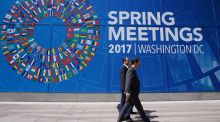 Donald Trump's presidency means a  lot of uncertainty overshadows this week's meetings of the IMF and World Bank. Photograph: Mandel Ngan/AFP/Getty Images