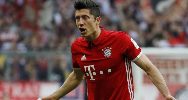 Robert Lewandowski returns to the Bayern Munich side for their Champions League clash with Real Madrid. Photo: Getty Images