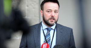 "SDLP leader Colum Eastwood referred to the "" intense efforts to restore powersharing government to Northern Ireland"" under way at present.  Photograph: Eric Luke"