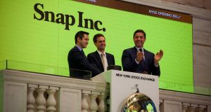 Snap's IPO: Snapchat's owner  waited until it had secured a valuation of  $25bn before going public. Photograph: Michael Nagle/Bloomberg/Getty Images