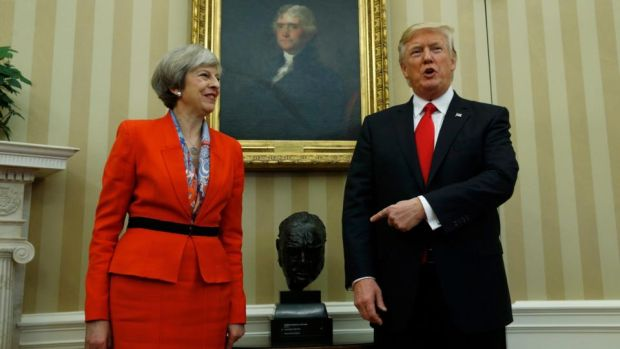 """This doctrine of universal flux was evident when we witnessed the UK vote to leave the EU and the election of Donald Trump as US president."" Photograph: Kevin Lamarque/Reuters"