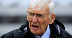 Former US ambassador to Ireland Dan Rooney, who died last week,  used his standing as the owner of the Steelers to help Barack Obama win over key blue-collar areas of Pennsylvania, Ohio and West Virginia during his 2008 presidential election victory. Photograph: Gene J. Puskar/AP
