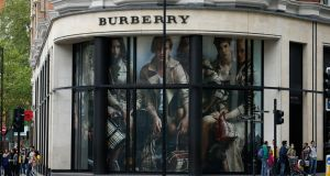 Known for its classic trench coats, Burberry has benefited from tourists taking advantage of a drop in the value of the pound since the Brexit vote in June to buy luxury goods in the British capital rather than other European cities. (Photograph: Jonathan Brady/PA Wire)