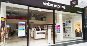 Vision Express says it intends to retain Tesco Optician personnel in  all its stores. Photograph: Vision Express
