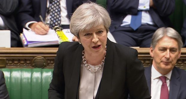 Image result for British Prime Minister Theresa May in parliament