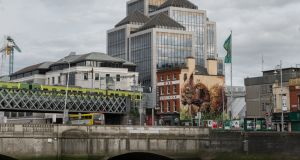 The giant squirrel on Tara Street was created from waste to highlight the plight of the red squirrel in Ireland