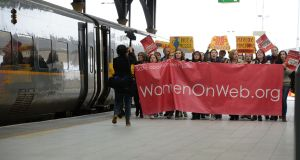 Pro-choice activists womenonweb.org have campaigned for availability of  abortion pills. Photograph: Dara Mac Dónaill