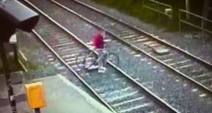 Iarnród Éireann has urged an end to track trespass in a new campaign featuring shock footage from Kilbarrack Dart station, Dublin where a trespasser just avoids being killed as the Dublin to Belfast Enterprise speeds through at 140 km per hour.