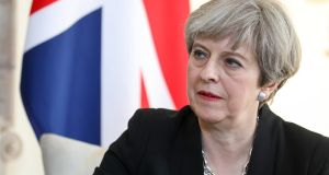 Theresa May: After the June poll, the next election will be delayed until 2022. Photograph:  Epa/Luke MacGregor