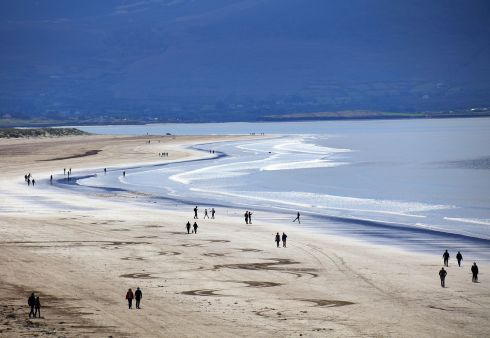 SPRING BREAK: Beach-goers enjoy the good weather, on Inch Strand, Dingle Peninsula, Co Kerry. Photograph: Valerie O'Sullivan