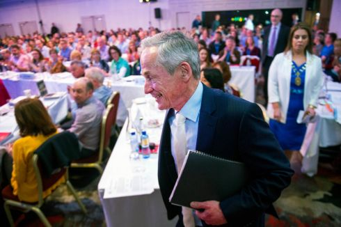 TEACHERS CONFERENCE: Minister for Education and Skills Richard Bruton attends the Teachers Union of Ireland annual congress, in Cork city. Photograph: Daragh McSweeney/Provision