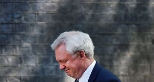 David Davis, British secretary of state for exiting the EU: had hoped London could retain the European Banking Authority and European Medicines Agency postBrexit. Photograph: Andy Rain
