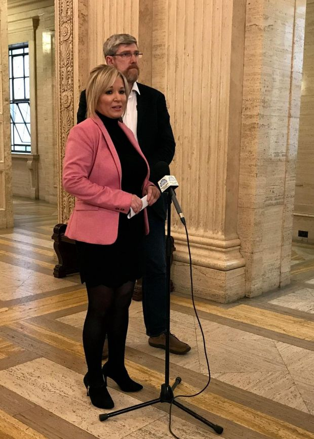 "Sinn Féin's Northern leader Michelle O'Neill said her party wanted to fight the election ""very strongly"" on the grounds of opposition to Brexit and austerity. Photograph: Deborah McAleese/PA Wire"