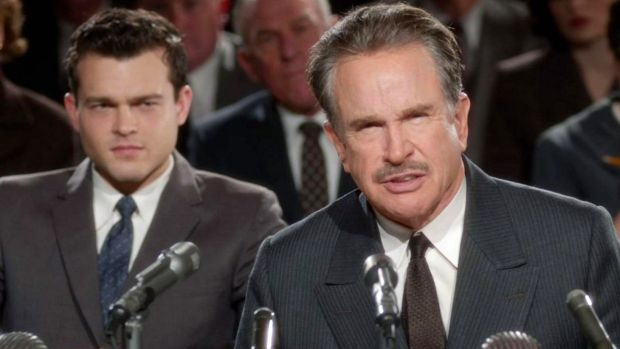 Warren Beatty and Alden Ehrenreich in Rules Don't Apply, a film about Howard Hughes.