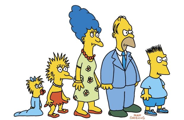 The Simpsons looked a bit different when they appeared in segments between The Tracey Ullman Show and advertishing breaks. Photograph: Fox