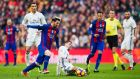 Barcelona meet Real Madrid at the Bernabeu in one of the picks of the weekend action. Photo: Alex Caparros/Getty Images