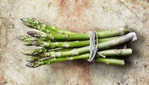 Asparagus needs only a minute or two at most to cook so be careful not to leave it too long on the heat.